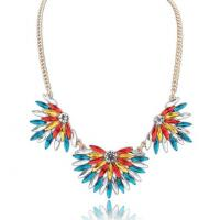 Quality Colorful leaf Pendant necklace collars  TJ0035 for sale