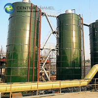 Quality Vitrum Bolted Steel Liquid Storage Tank With Aluminum Dome Roof for sale