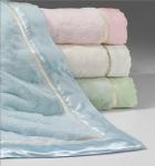 Buy cheap Custom Print Plain Color Luxury Beach Towel Hotel Towel Satin Border from Wholesalers