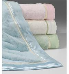 Quality Custom Print Plain Color Luxury Beach Towel Hotel Towel Satin Border for sale