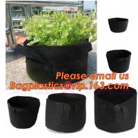 Quality fabric pots grow bag felt garden bag with handle,Hydroponic Grow Bag 1 Gallon Containers With Handle,Eco-friendly High q for sale