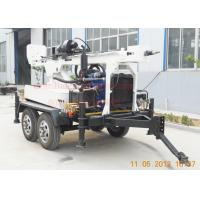 Quality Hydraulic Rotation Water Well Drilling Equipment With 4 Wheel Trailer Mounted for sale
