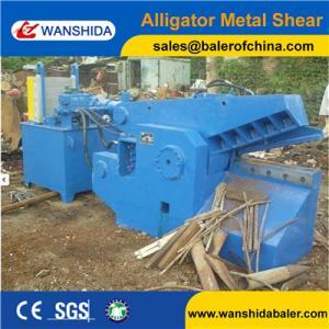 Quality WANSHIDA Q43-1600 Small size automatic alligator metal steel iron scrap guillotine shear (CE) for sale