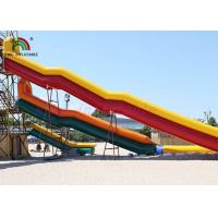 China Combo Size PVC Blow Up Single Lane Water Slide Colorful Tube Handrails on sale