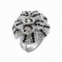 Quality Ring with Swarovski Jewelry, Sterling Silver Ring with Crystal, in New Design for sale