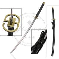 China Black Japanese Anime Greatsword , Bleach Ichimaru Gin Shinsou Samurai Sword on sale