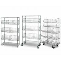 Quality 5-Layer Chrome Finish Steel Wire Basket Unit With 7 Baskets Use In Restaurant Shop for sale