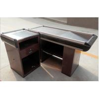 Quality Modern Shop Stainless Steel Express Supermarket Checkout Counter / Reception Desk for sale