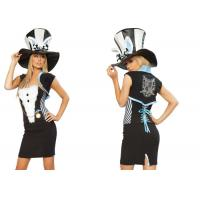 Quality Fashion Fancy Charming Rabbit  Party Adult Costumes Black White  Blue Mixed Color for sale