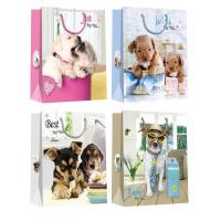 Quality Christmas Paper Gift Bags with lovely dog pattern desgins for sale