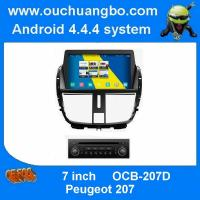 China ouchuangbo car multimedia s160 for Peugeot 207 support android 4.4 gps sat nav Bluetooth phone book radio on sale