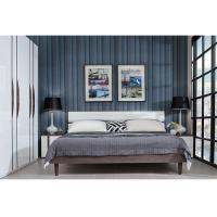 King Size Luxury Modern Bedroom Furniture Sets With Night Stand / Wardrobe