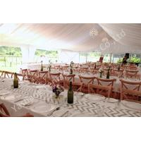 Quality White Lining Adored Aluminum Framed Luxury Wedding Tents , Beach Wedding Marquee for sale