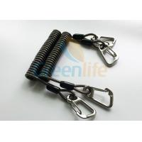 Quality High Security Steel Reinforced 125MM Long Black Plastic Stertch Coiled Bungee Cable for sale