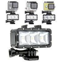 Quality GoPro Accessories 40M Universal Waterproof Dimmable LED Diving Light For Hero 4 3 3+ SJCAM SJ4000 SJ5000 Xiaoyi 4K for sale