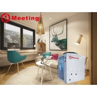 China Meeting center house air condition,heating cooling and domestic hot water, air to water heat pump 220V/380V 12-20kw on sale