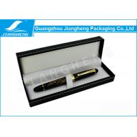 Quality Hot Stamped Black Pen Packaging Box PU Leather Sewing Needles Design for sale