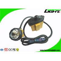 China Flashing Light Led Mining Lamp Corded Cable Underground Coal Mining Cap Lamps 25000lux on sale