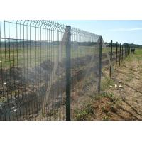 Quality Square Post Powder Coating RAL6005 Welded Mesh Fencing With 50x200mm Mesh for sale