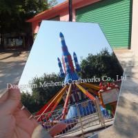 Quality Extruded Plastic 0.5mm Super Clear Pet mirror Sheet / PET Plastic mirror Sheet for sale