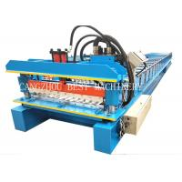 China Galvanized Corrugated Roofing Sheet Roll Forming Machine 380v 3kw Power on sale