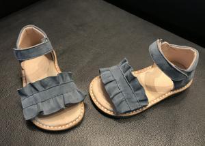 China Summer Wide Feet Doeskin Stylish Kids Shoes on sale