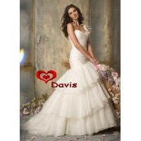 China Mermaid One-Shoulder Wedding Gown (WD-3020) on sale