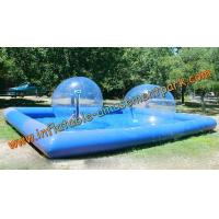 China Blue Inflatable Human Sized Hamster Ball / Inflatable Walk On Water Ball on sale