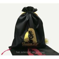 Buy cheap virgin hair extension package bag satin fabric hair storage bag from wholesalers