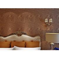 Quality Non - Woven Brown Moistureproof Modern Removable Wallpaper With Dropping Beads for sale