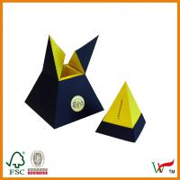 Quality triangle and 2 color corrugated box ,paper box with special design for sale