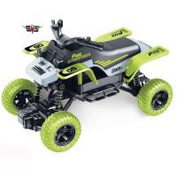 China Electric RC toy car monster truck remote control 1:18 RC green climb motorcycle car toy for kids Christmas gift 666-281B on sale