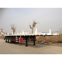 40FT Flatbed Truck 500mm Heavy Duty Semi Trailers for sale