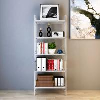 Quality Library Room White Home Wire Shelving , Adjustable Five Shelf Storage Rack for sale