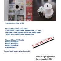 Quality printed and non printed thermal paper roll for sale