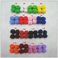 Silk knot cufflink with single color