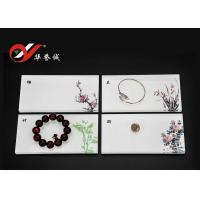 Quality Rectangle Acrylic Jewelry Display Platform With Flower For Jewelry Display for sale