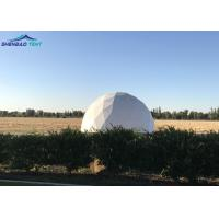Military Geo Dome Tent White Large PVC Cover With Aluminum