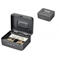 China Rounded Corners Metal Coin Money Storage Safe Security Box Holder Suitcase With Combination Lock on sale