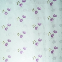 Quality TUV mattress protector 70gsm Brushed Polyester Fabric Purple Pattern Design for sale