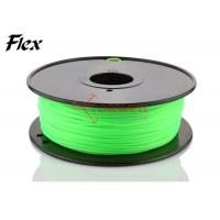 Quality Bright green Flexible 3D Printing Filament 3mm , rubber filament for Leapfrog for sale