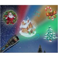 Buy Christmas Indoor Super Bright LED Flashlight , Handheld Projector Black Blue at wholesale prices