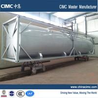 China CIMC 40 foot bulk tank container to carry diesel , cement , gasoline on sale