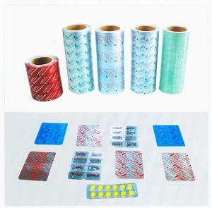 China Cold Formed  Aluminum Alu - Alu Foil Medical Blister Packaging For Tablet , Capsule on sale