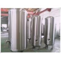 Buy Elliptical Dish End Stainless Steel Air Receiver Tank , Pneumatic Pressure Vessel at wholesale prices