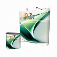 Quality Easy Fabric Display with 8ft Wave Frame/Dye-sublimation Graphic, Ideal for Trade Shows/Advertising for sale