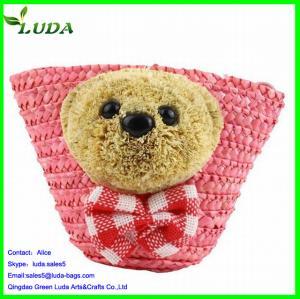 Quality Knitting Straw Handbag Smiler Straw Bag for sale