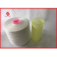 Buy 1.67kg / Cone Raw White 100% Polyester Ring Spun Yarn Paper Cone For Sewing at wholesale prices