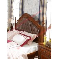 Quality Leather Upholstery Headboard with Wooden Carving Frame in Bedroom Furniture sets for sale