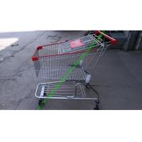 Quality 150 Litres Wire Shopping Trolley For Mall , American Style Steel Hand Push Cart for sale